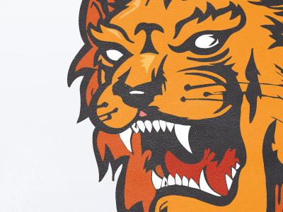 Lion lion pad red orange illustration