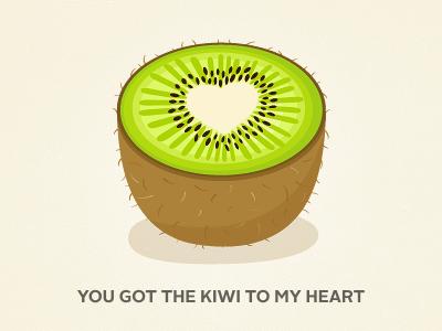 Kiwi kiwi pun green brown fruit