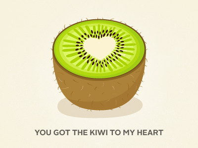 Kiwi kiwi pun green brown fruit