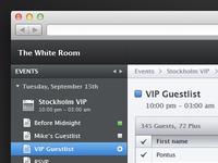 Event webapp