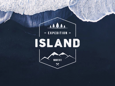 Island Expedition 2017 expedition island iceland outdoor label illustration icon mountains badge arrows adventure