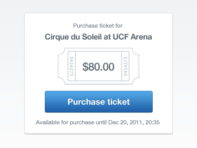 Purchase Ticket purchase ticket price blue