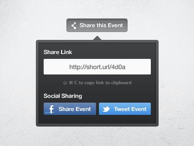 Share Event widget share facebook twitter blue dark event copy