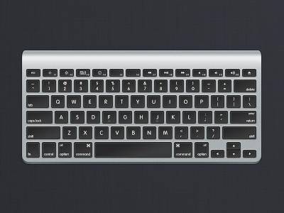 Apple Wireless Keyboard apple icon keyboard