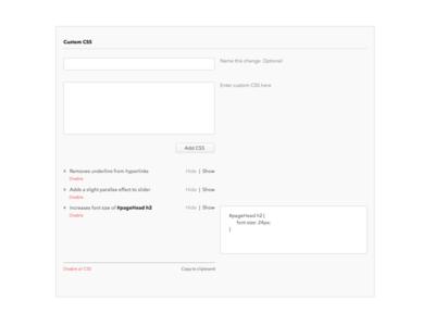 Visual CSS in WordPress