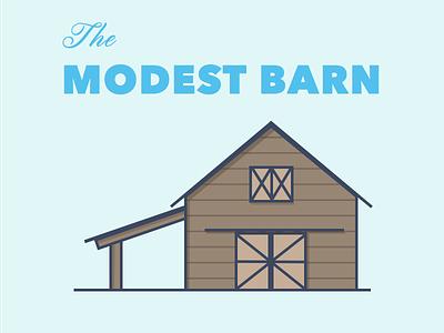 The Modest Barn illustration line art skyline building barn farm rustic