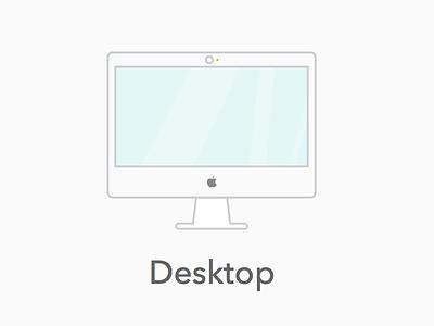 Desktop icon icon device desktop heavy line illustration