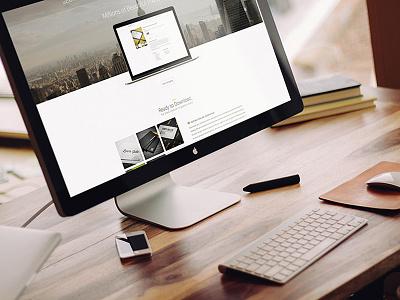 FREEBIE: Apple iMac Mock-Up PSD psd imac apple mock-up free freebie