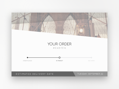 Order Tracking shipping ui order tracking