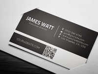 White Line Business Card