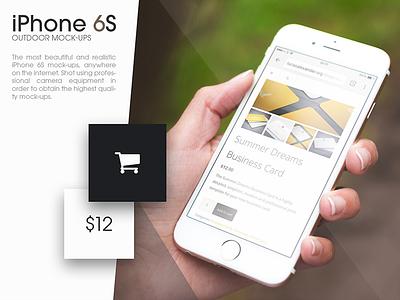 iPhone 6S Outdoor Mock-Ups mockup mock-ups iphone apple iphone 6s