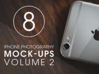 iPhone Photography Mock-Ups [VOL. 2] walnut apple mockup mock-up photography iphone