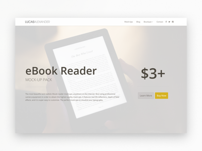 Online Store mockup ebook kindle ecommerce