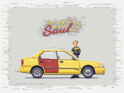Better Call Saul // Pixel Art better call saul voxel art pixel art show tv netflix