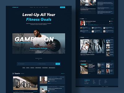 Fitness Content Platform modern fitness website uxdesign uidesign