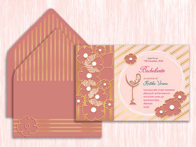 Bachelorate Party Invitation business card greeting card invitation card graphic design logo design logo freelance illustrator adobe photoshop adobe indesign illustration adobe illustrator packaging illustrator graphic designer graphicdesign freelancer branding
