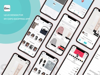 MY EXPO SHOPPING APP DESIGN CONCEPT user experience design user interface illustration application design uiux app design concept app interface originator adsum adsumoriginator app concept