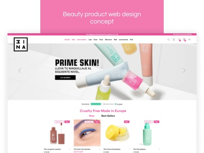 BEAUTY PRODUCT WEB DESIGN CONCEPT concepts web concept shopify wordpress web application design webdesign user interaction user interface design user experience design design concept uiux originator adsum adsumoriginator