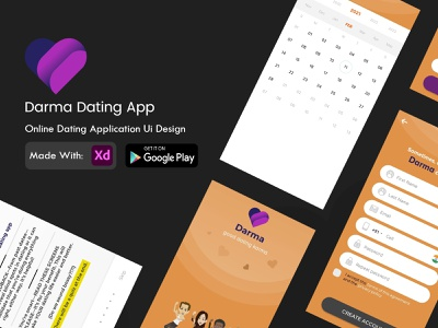 DARMA DATING APP DESIGN appdevelopment uiux design dating app design ui kit app ui user interface design user experience design app interface application ui application app concept originator adsum adsumoriginator