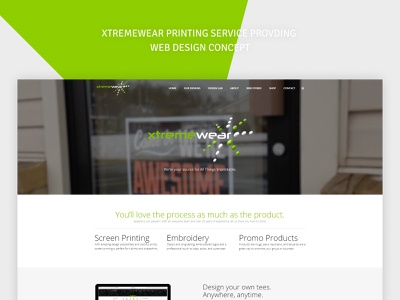XTREMEWEAR PRINTING WEBSITE DESIGN CONECPT web interface ui interface website concept webdesign wordpress website builder branding uiux ui design user interface design user experience design concept originator adsum adsumoriginator