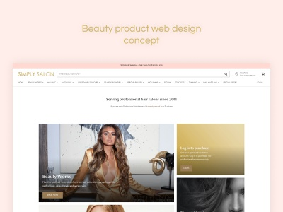 SIMPLY SALON - SALON WEBSITE DESIGN webdevelopment wordpress web concept web ui  ux design web flow website concept website design ui interface uiux ui illustration design user interface design user experience design concept originator adsum adsumoriginator