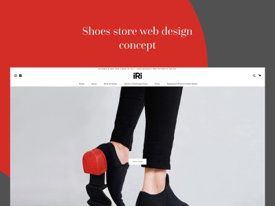 SHOES STORE WEBSITE DESIGN CONCEPT wordpress landing page user experience ux web ui interface web ui web web design website concept ui illustration user interface design user experience design concept uiux adsumoriginator originator adsum