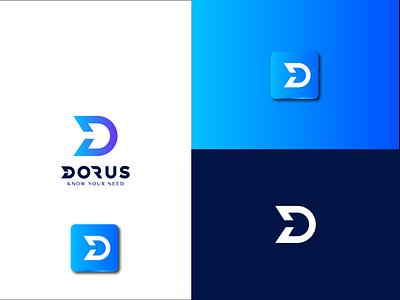 D Letter Logo letter mark branding professional modern
