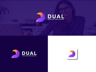TECHNOLOGY COMPANY LOGO d icon apps web data data design digital programmer technical modern identity logo design corporate d letter logo software tech branding