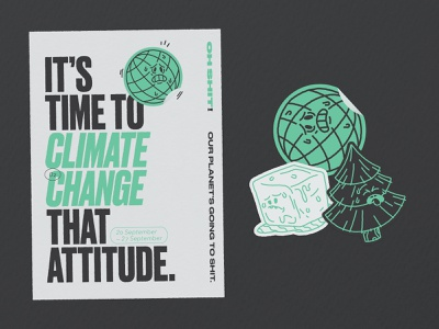 Climate Change That Attitude stickermule environment climate change typography graphic design adobe illustrator illustration