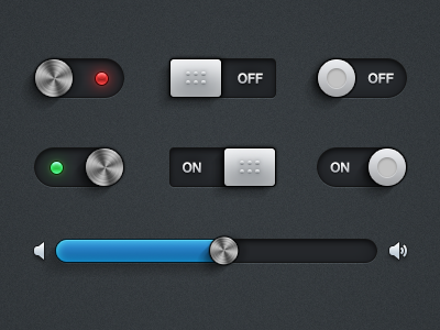 Super sweet UI kit on it's way  ui kit user interface switches toggles slider interface clean mike busby buttons psd download resource leds