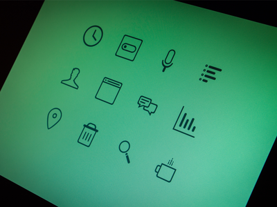 Free PSD - Teal Icons