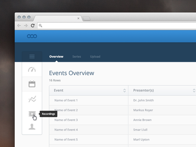Roll up vertical menu.  vertical nav vertical menu web app navigation roll over icons tables mike busby