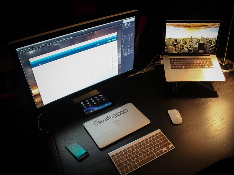 2014 Home Workspace  workspace designer workstation home office mike busby toronto design workstation photography macbook