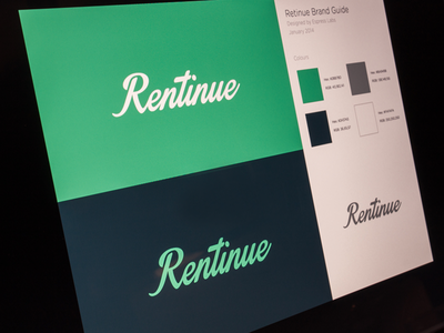 Rentinue Brand Guide logo brand style guide branding guideline brand guide