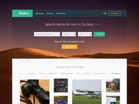 Rentinue Landing Page Concept