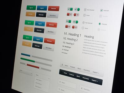 UI Kit For Marvel App marvel sliders ui kit buttons user interface marvel app toggles