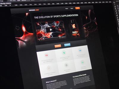 Genesis Labs web design landing page web page site design mike busby toronto web design old work