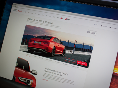 Audi Canada  Model Page re design audi audi canada mike busby car site automobile auto