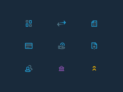 Main Navigation Icons icon design icons mike busby web app design app design toronto design toronto