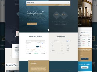 GoldMoney Marketing Website gold fintech brand design web design marketing site design website design marketing site bitgold goldmoney