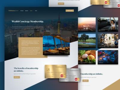 Concierge Marketing Page mike busby fin tech goldmoney site design landing page web design marketing page