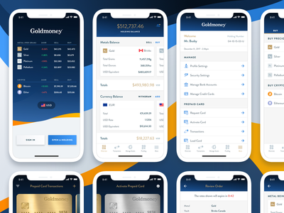 Goldmoney iOS Application real work mobile ui mobile app design mobile app fintech goldmoney blockchain cryptocurrency mobile design ios application