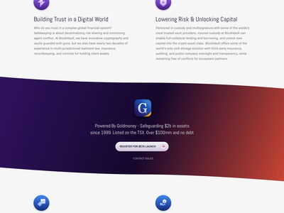 BlockVault Coming Soon Landing Page crypto website website design landing page illustration icons cold storage cryptocurrency icon design blockchain block chain blockvault mike busby