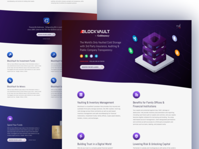 BlockVault Coming Soon Landing Page