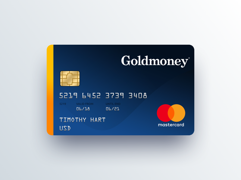 Goldmoney prepaid card concept