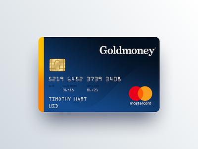 Goldmoney Prepaid Card Concept fintech goldmoney block chain mike busby mastercard card design credit card design prepaid card