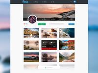 500px Concept Profile Page