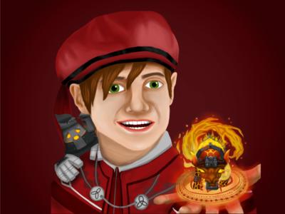 Wizard101 - Cole bull fire wizard101 wizard witch magic fantasy illustration