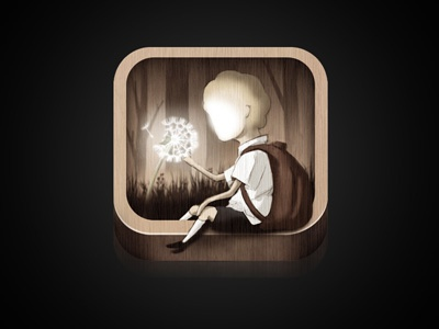 Dandelion Icon icon ipad illustration childrens book gothic forest dandelion boy school app