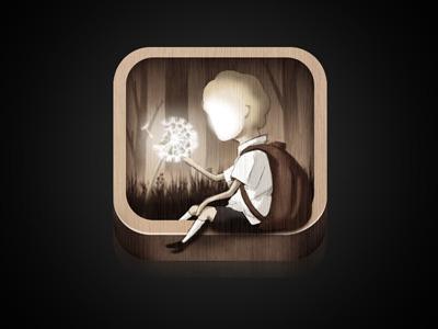 Dandelion Icon icon ipad illustration childrens book gothic forest dandelion boy school app